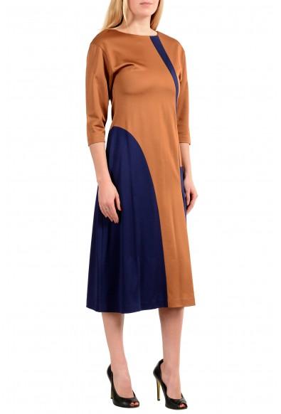 "Hugo Boss Women's ""Ewianna"" Two-Tone 3/4 Sleeve Sheath Dress: Picture 2"