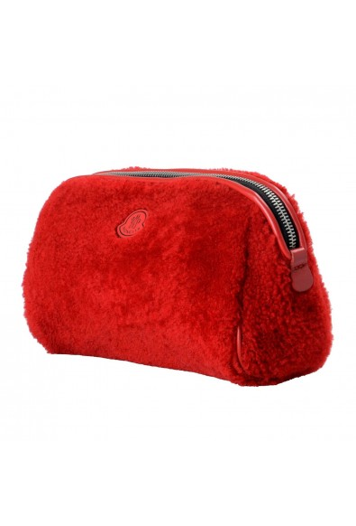 """Moncler """"Beauty Grande"""" Red Leather Trim Women's Cosmetic Bag: Picture 2"""