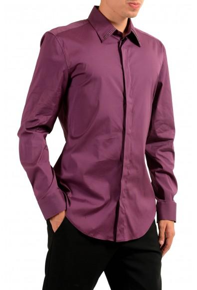 Versace Men's Burgundy Long Sleeve Dress Shirt: Picture 2