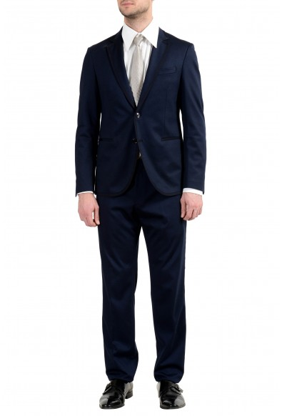 """Hugo Boss """"Niday/Bawin-J"""" Men's Slim Blue Stretch Two Button Suit"""
