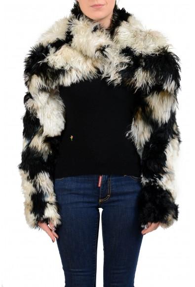 Just Cavalli Women's Alpaca Fur Wool Silk One Button Jacket