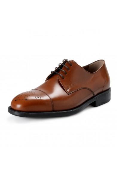 """Salvatore Ferragamo """"Aramix 1"""" Men's Almond Brown Leather Lace Up Oxfords Shoes"""