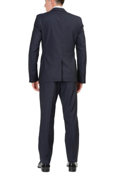 Prada 100% Wool Navy Checkered Two Buttons Men's Suit : Picture 2