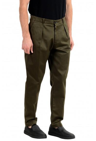 "Hugo Boss ""Kirio-Pleats-P"" Men's Dark Green Casual Pleated Pants: Picture 2"