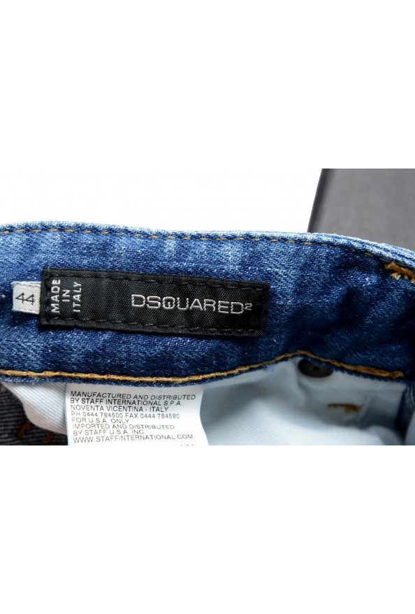 """Dsquared2 """"Slim Jean"""" Men's Blue Stretch Ripped Skinny Jeans : Picture 4"""