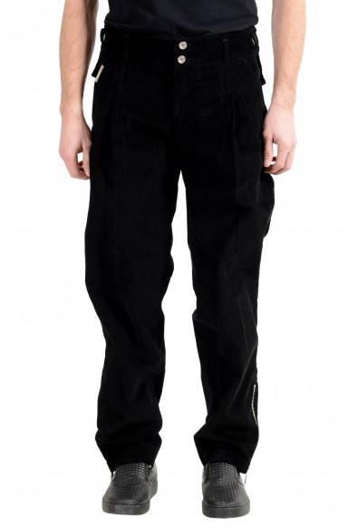 Dolce&Gabbana Men's Black Pleated Corduroy Casual Pants