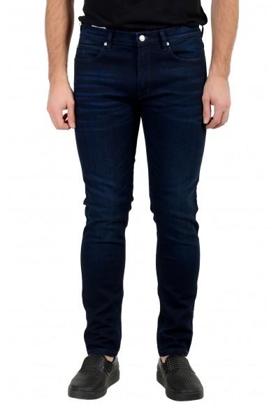 "Hugo Boss Men's ""Hugo 734"" Skinny Fit Dark Blue Wash Stretch Jeans"