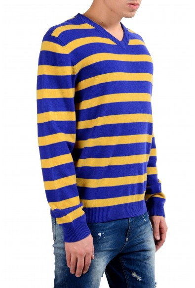 """Hugo Boss """"Maceo"""" Men's 100% Wool Regular Fit V-Neck Striped Sweater: Picture 2"""