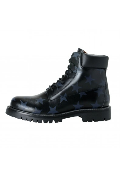 Valentino Garavani Women's Black Star Print Leather Ankle Boots Shoes: Picture 2