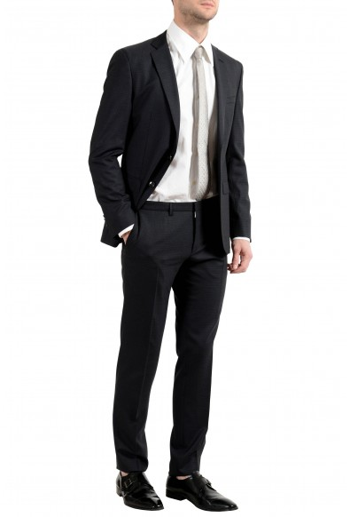 """Hugo Boss """"Reyno4/Wave2"""" Men's 100% Wool Extra Slim Black Two Button Suit: Picture 2"""