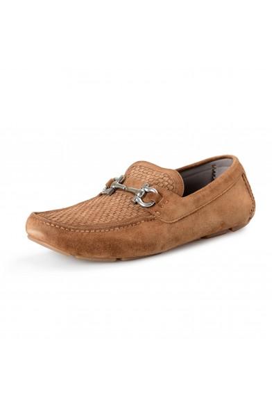 Salvatore Ferragamo Men's PARIGI 16 Brown Suede Leather Loafers Slip On Shoes