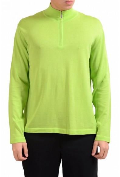 Malo Men's Light Green 1/2 Zip Pullover Sweater