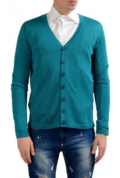 Malo Men's Light Silk Linen Cardigan Sweater