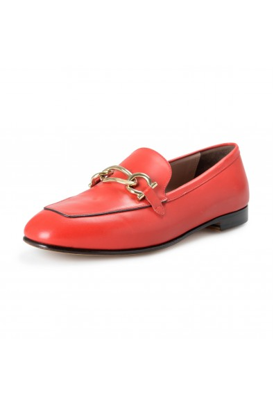 """Salvatore Ferragamo Women's """"BOY"""" Red Leather Loafers Moccasins Shoes"""