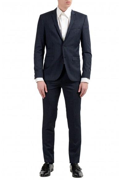 """Hugo Boss """"Adris4/Heilon"""" Men's Wool Plaid Two Button Suit"""