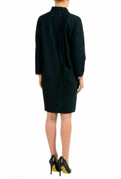 Maison Margiela 1 Women's Wool Greenish Long Sleeve Sheath Dress: Picture 2