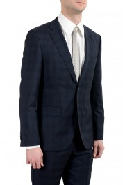 "Hugo Boss ""Johnstons2/Lenon"" Men's 100% Wool Blue Plaid Two Button Suit: Picture 5"
