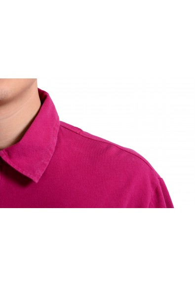 Malo Men's Magenta Pink Short Sleeve Polo Shirt: Picture 2