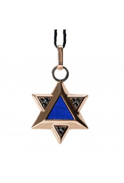BARAKA Men's ST281161RODN000014 Rose Gold Diamonds Star Of David Pendant