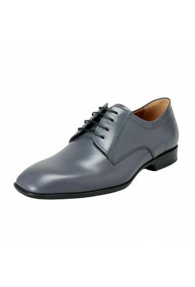 "Salvatore Ferragamo Men's ""CANTU 1"" Gray Leather Oxfords Shoes"