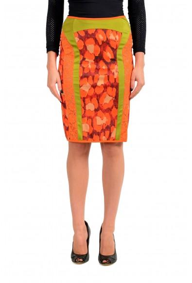 Just Cavalli Women's Multi-Color Graphic Print Pencil Skirt