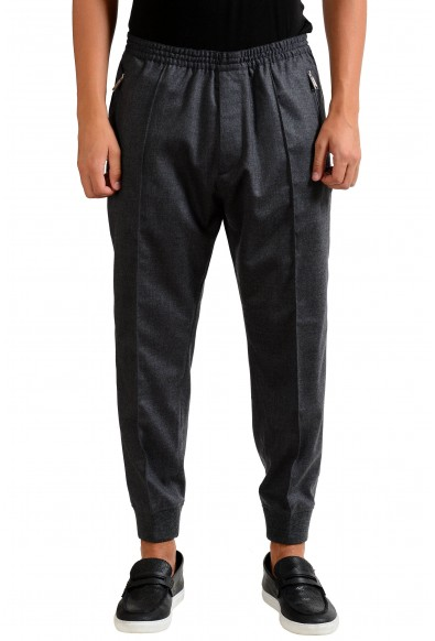 Dsquared2 Men's Gray Wool Stretch Casual Pants