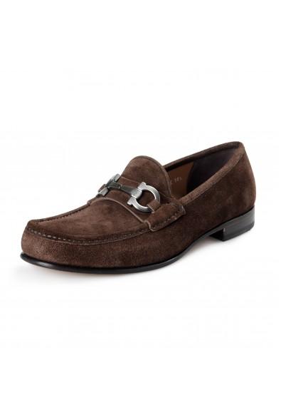 "Salvatore Ferragamo Men's ""Bond"" Brown Suede Leather Slip On Loafers Shoes"