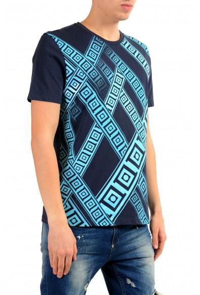 Versace Collection Men's Blue Graphic Print T-Shirt: Picture 2