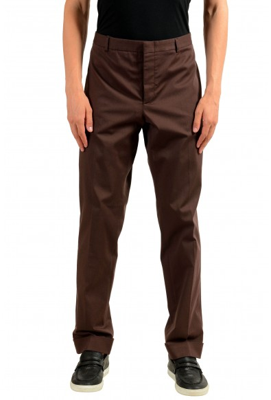 Gucci Men's Brown Stretch Casual Pants