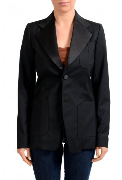 Maison Margiela 100% Wool Black Two Button Women's Blazer