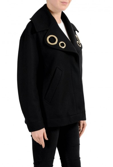 Versace Collection Wool Cashmere Black Button Down Women's Jacket: Picture 2