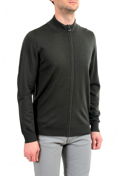 "Emporio Armani EA7 ""Ski"" Men's 100% Wool Green Full Zip Sweater: Picture 2"