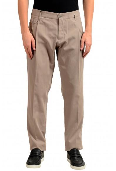 Dolce & Gabbana Men's Beige Pleated Casual Pants