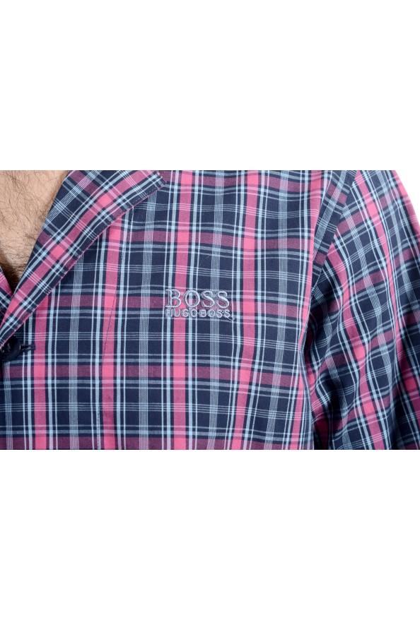 Hugo Boss Men's Plaid Long Sleeve Cotton Pajama Shirt: Picture 6