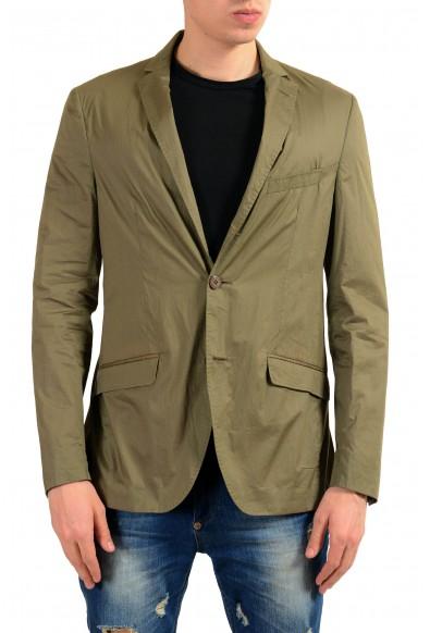 "Etro ""52"" Men's Olive Green Two Button Light Blazer Sport Coat"