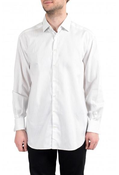 Armani Collezioni Men's Striped Long Sleeve Dress Shirt