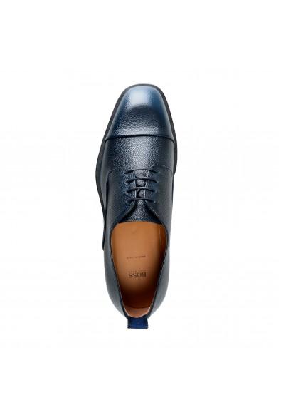 "Hugo Boss Men's ""Boulevard_Derb_sgct"" Blue Textured Leather Derby Shoes: Picture 2"