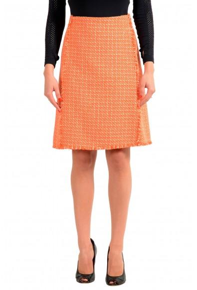 "Hugo Boss Women's ""Vomanda"" Orange A-Line Straight Skirt"