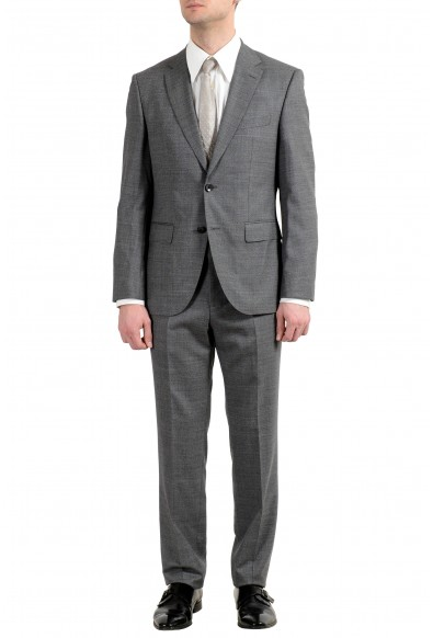 """Hugo Boss """"Johnstons5/Lenon1"""" Men's 100% Wool Gray Two Button Suit"""