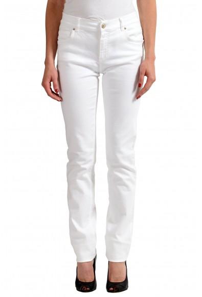 Versace Jeans White Women's Straight Leg Jeans
