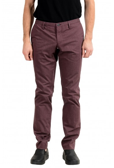 "Hugo Boss ""Stanino16-W"" Men's Purple Slim Casual Pants"
