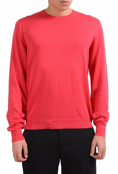 Malo Men's Red Crewneck Light Pullover Sweater
