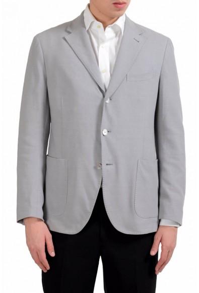 Malo Men's Gray Three Button Blazer Sport Coat