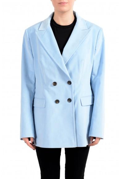 """Hugo Boss Women's """"Kulie"""" Blue Double Breasted Blazer"""