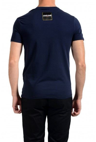 "Roberto Cavalli ""SPORT"" Men's Blue Graphic Stretch T-Shirt: Picture 2"