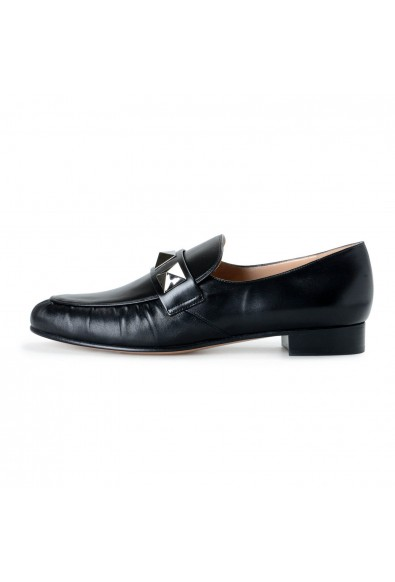 Valentino Garavani Women's Black Leather Loafers Slip On Flats Shoes: Picture 2