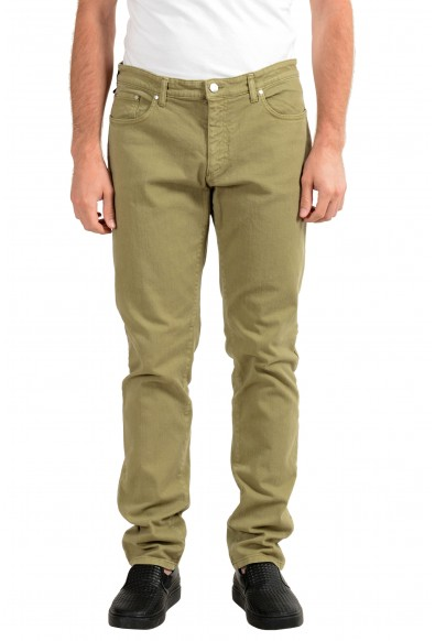 Versace Collection Men's Gray Stretch Slim Jeans