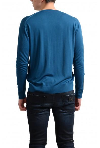 Prada Men's 100% Wool Blue V-Neck Pullover Sweater: Picture 2