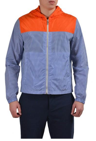 Prada Men's Multi-Color Hooded Full Zip Windbreaker Jacket