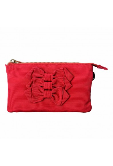Red Valentino Bow Decorated Red Women's Wristlet Clutch Bag